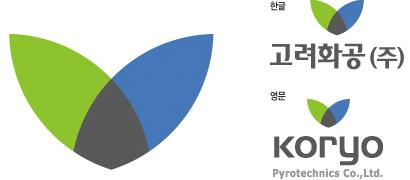 한글 고려화공(주), 영문 koryo Pyrotechnics Co.,Ltd.